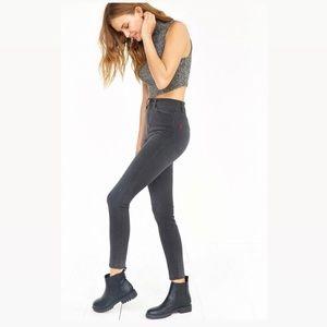 UO, BDG Super High Rise Twig Skinny Black Jeans